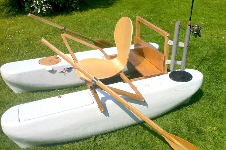 Mini Pontoon Boat with Rod Holders | DIY Boat | Pinterest ...