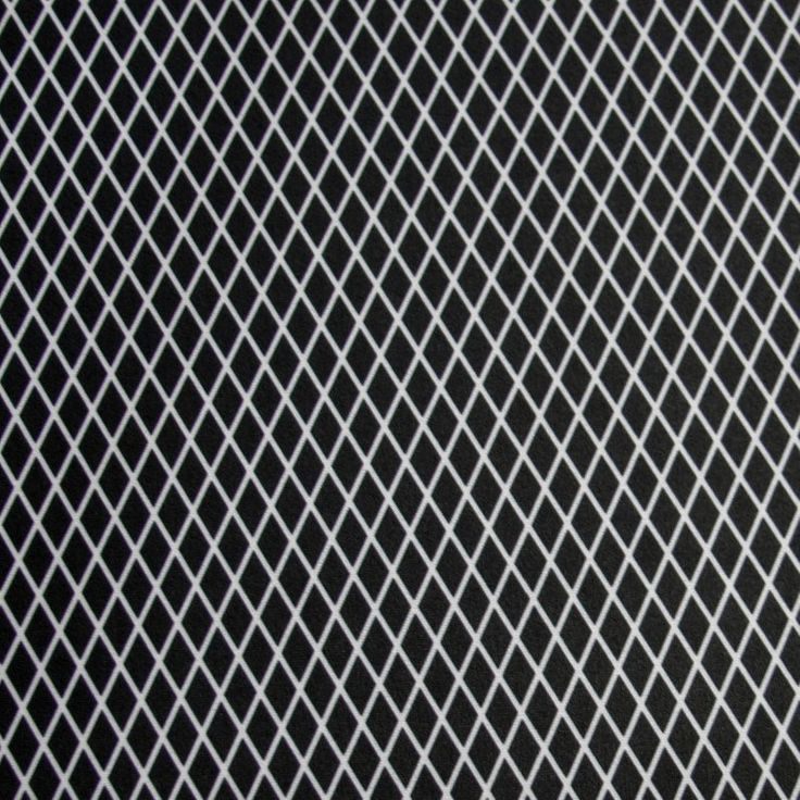 Black and White Mini Diamonds Nylon Lycra Swimsuit Fabric