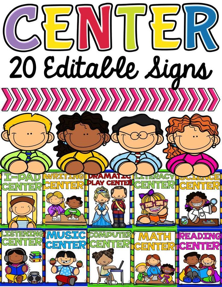 Best 25 classroom center signs ideas on pinterest classroom class decor center signs editable pronofoot35fo Gallery