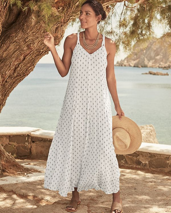 11403a4d46d Cotton Gauze Long Cover-Up | Cruise and Resort Style in 2019 | How ...