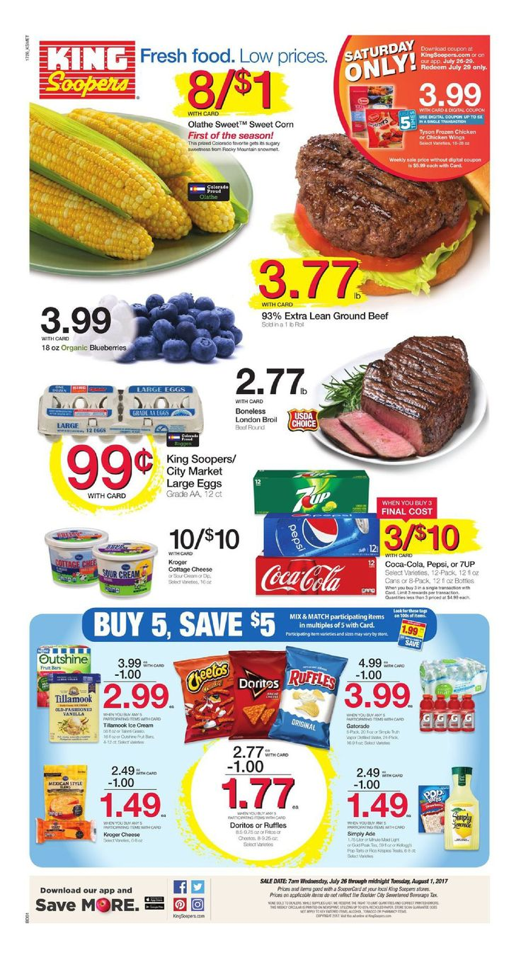 King Soopers weekly ad July 26 - August 1, 2017 - http://www.olcatalog.com/grocery/king-soopers-weekly-ad.html