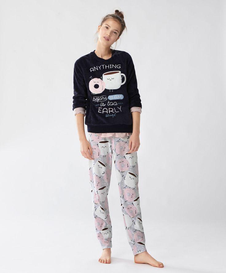 Mr. Wonderful kahvaltı temalı sweatshirt - Yeni Gelenler - UYKU | Kadın modasında Sonbahar Kış 2016 trendleri - Oysho Türkiye
