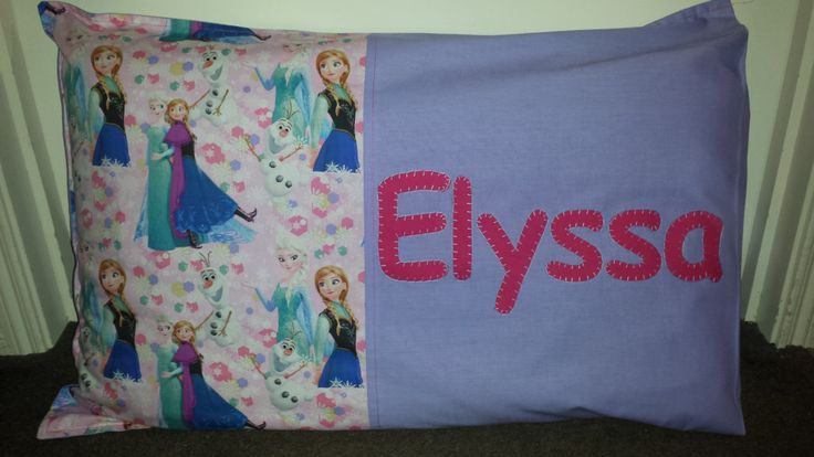 Disney Frozen pillowcase or cushion cover by EmbroideredGiftsOz on Etsy