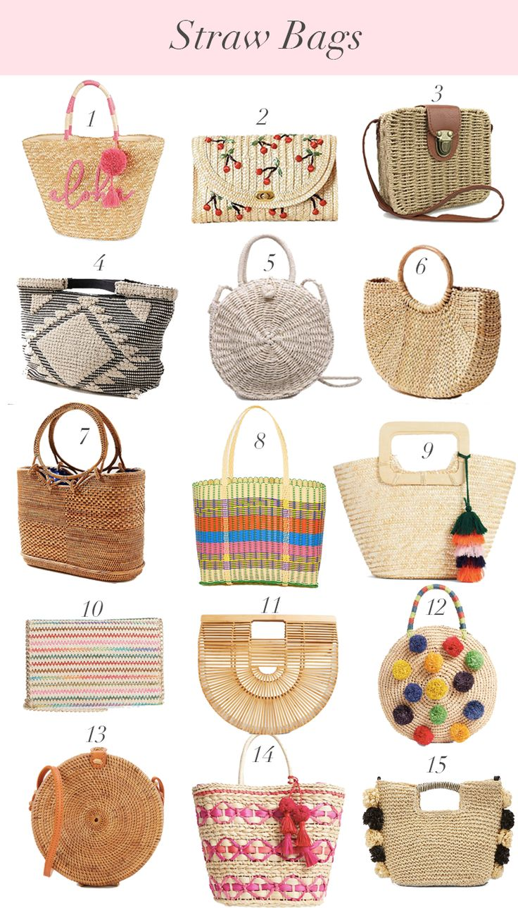 Straw Bags for this Season // Spring Trends // Summer Trends