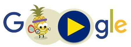 Día 2 de los Doodles de Juegos de Frutas 2016. Entérate más en g.co/fruit