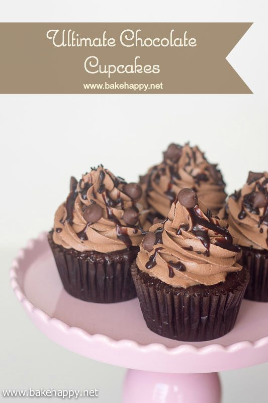 The ultimate chocolate cupcake recipe that is super moist, easy to make and definitely all chocolate lover's dream.