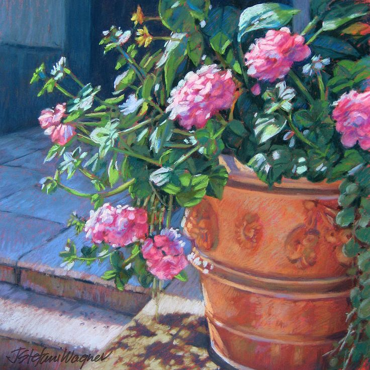 13 best flower paintings images on pinterest art for Pot painting materials required