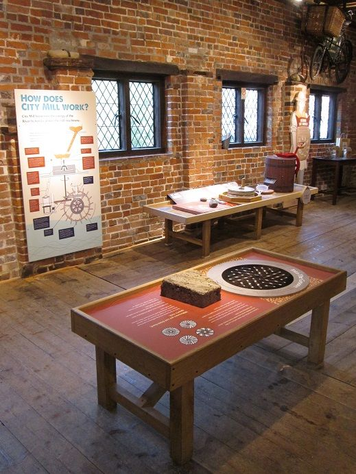 Winchester City Mill - Stone Table - Exhibition Design by FWDP