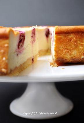 Sernik z białą czekoladą i wiśniami | ArtKulinaria