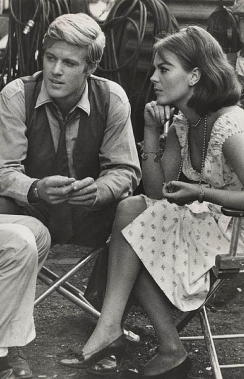 "Robert Redford and Natalie Wood during production of ""This Property is Condemned"""