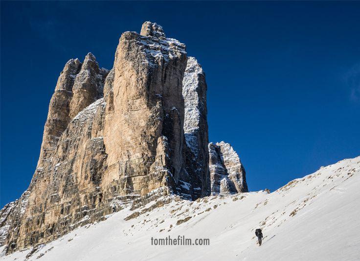 Approaching the Cima Grande di Lavaredo...