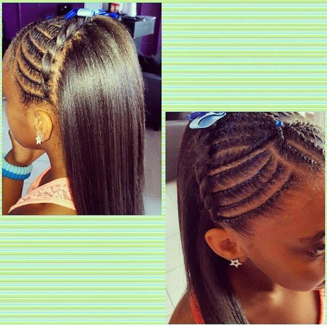 Black Kids Hairstyles Braids Glamorous 309 Best Hairstyles For Little Girls Images On Pinterest  Braids