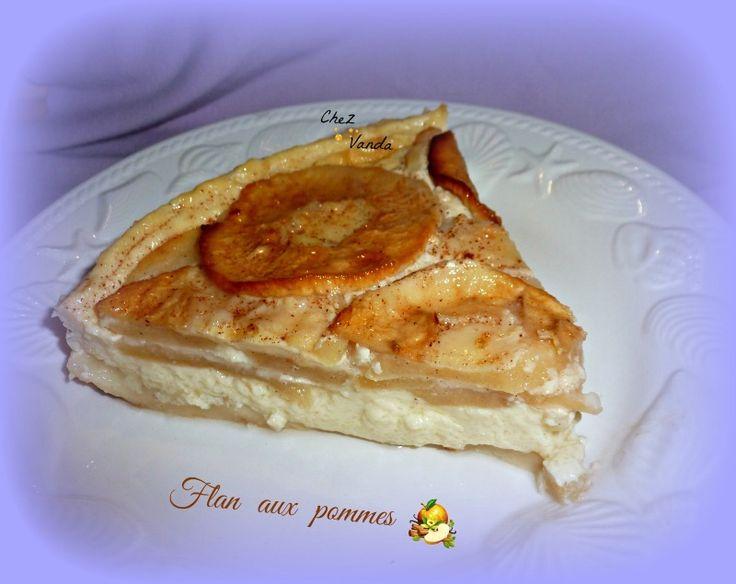 Avec des pommes , on peut faire des desserts tout simple et vraiment sympa !!!! Recette extraite du site WW ......avec mes p'tites modif Flan aux pommes  Pour 4 parts ;6PP.....et en JSC 4PP pour 6 parts ; 4PP .... et en JSC 3PP Pour 8 parts ; 3PP.......
