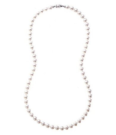 Available at Dillards.com #Dillards  A girl can't miss with a string of pearl. Even if they aren't 'real', hand noted makes them look elegant.