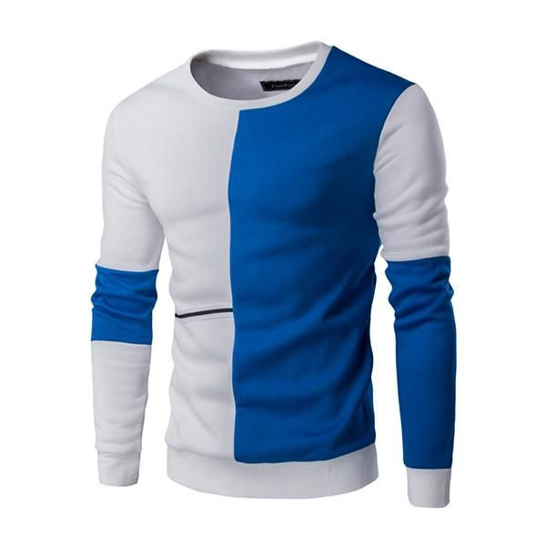 2017 New Winter Fashion Brand Clothing Casual Sweatshirt O-Neck Patchwork Slim Fit Knitting Mens Hoodies And Pullovers Men 9239
