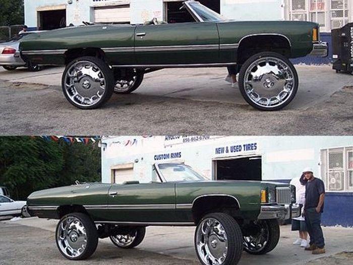 Big Rimmed Chevys Strange Ghetto Big Rim Custom Cars S