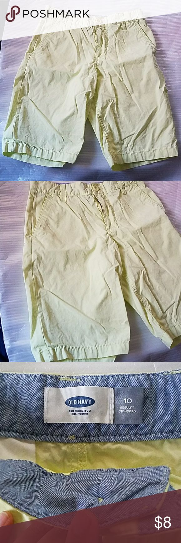 Old Navy Lime green shorts Old Navy Lime green shorts   Size 10  Adjustable waist  Used but look New  I do bundle and offers are welcome Old Navy Bottoms Shorts