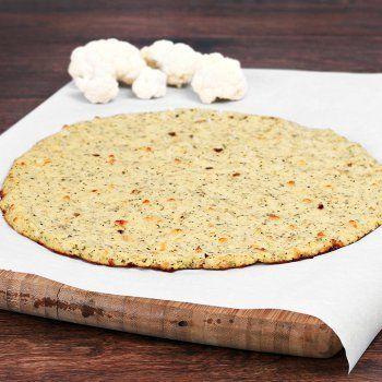 Pâte à pizza de chou-fleur                                                                                                                                                                                 Plus