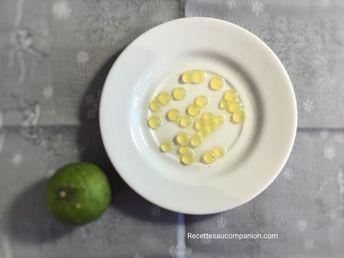 Perles ou billes de citron, recette facile et inratable