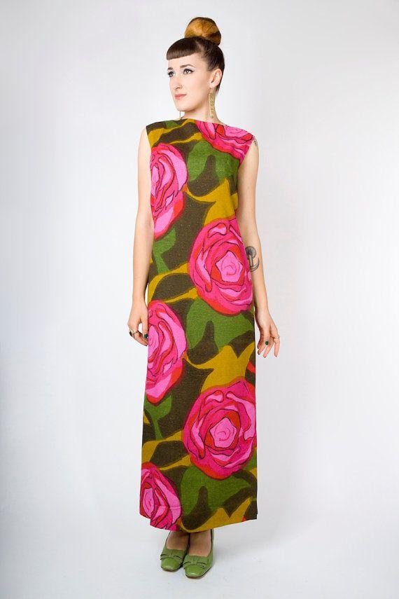 60s fashion maxi dresses