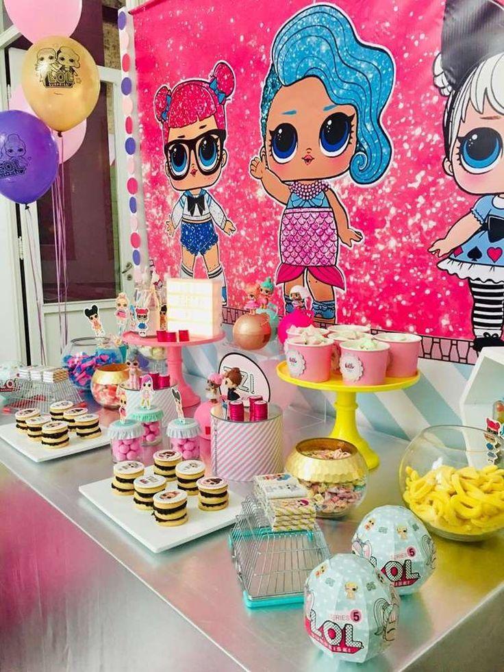 LOL Überraschungspuppen Geburtstagsfeier Ideen   Foto 1 von 21   Fang meine Party   – LOL Suprise doll birthday Aliyas 7th bday party