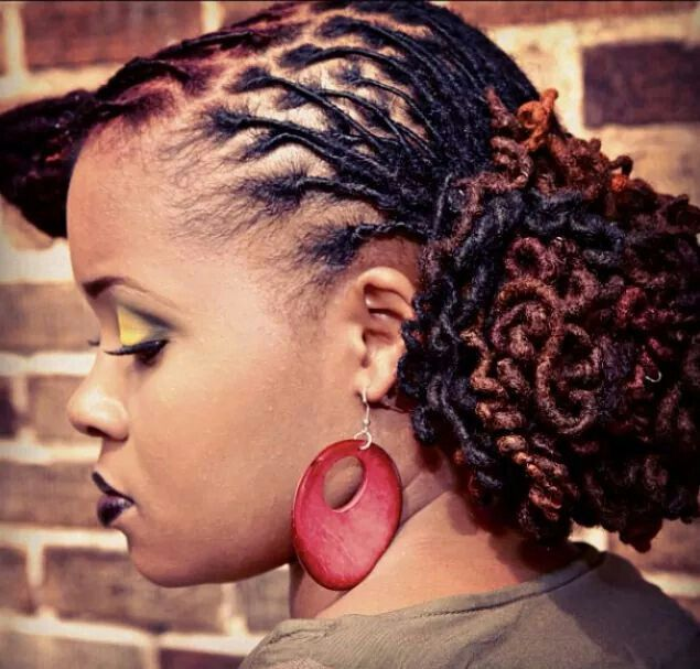 Gorgeous Color And Waves On Her Locs