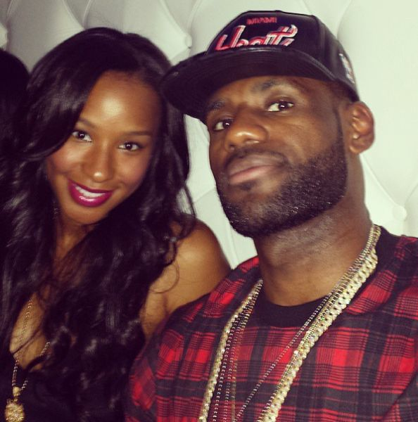 Savannah Brinson and LeBronJames - soon to be Mr. and Mrs. James. Congrats to them.