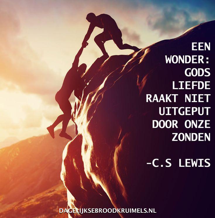 Een wonder: Gods liefde raakt iet uitgeput door onze zonden. Uitspraak van C.S. Lewis.