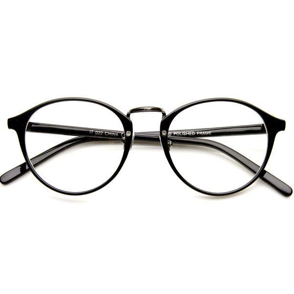 Vintage Dapper Indie Fashion Clear Lens Round Glasses 8768