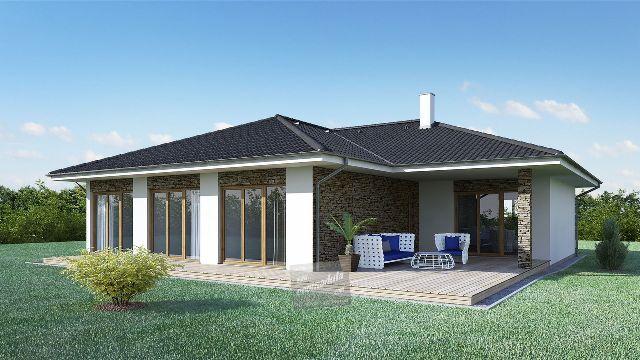 Krásný rodinný dům Goopan LG 162 je pro všechny z vás, kteří hledáte krásné, prostorné bydlení za skvělou cenu. Dům má dispoziční řešení 4+kk a má 140,6 m2 a i přes jeho velikost jsou měsíční náklady velmi nízské:) I tento dům můžete mít za cenu nižší než je nájemné stejně velkého bytu v panelovém domě. Více o domech na www.goopan.cz