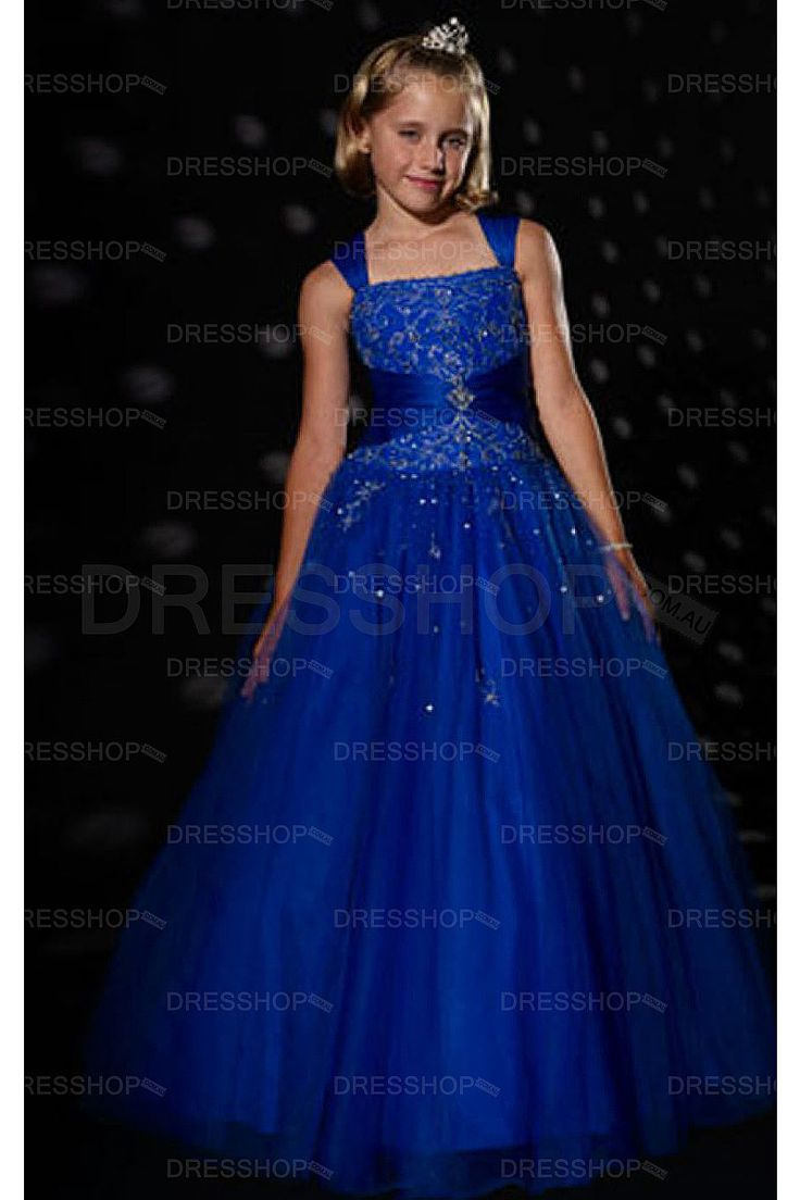 Empire Floor-length Shoulder Straps Flower Girl Dresses - Flower Girl Dresses - Wedding Party Dresses - Dresshop.com.au