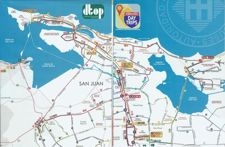 San Juan Bus Route Map UNRELIABLE but good to have just in case