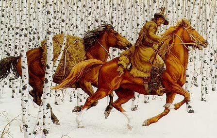 bev doolittle horses in birch treesBev Doolittle Horses