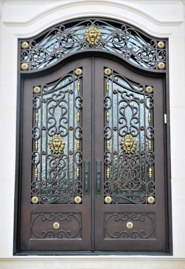 Wrought Iron Door El1136 Monarch Custom Doors Wrought Iron Doors Iron Doors Wrought Iron Front Door