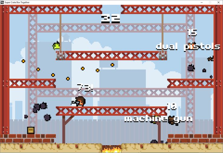 An online multiplayer mod for Super Crate Box