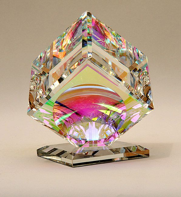 Millennium Cube by Lustig l Kuivato Glass Gallery