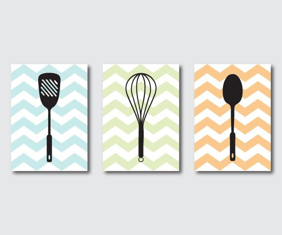 Hey, I found this really awesome Etsy listing at http://www.etsy.com/listing/151697810/kitchen-wall-art-trio-kitchen-utensils