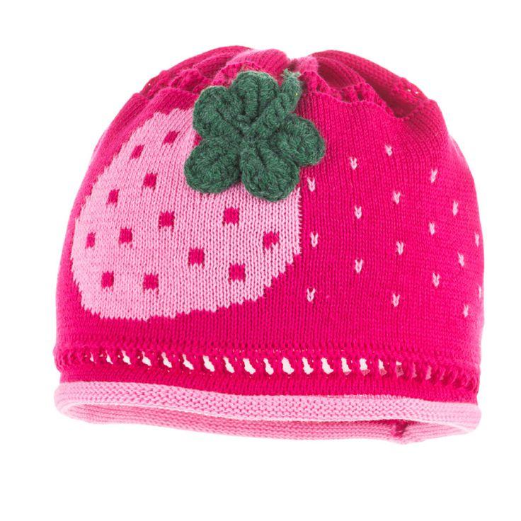 maximo Girls Mütze Erdbeere dunkelpink rosa nelke