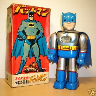 60s Bandai Batman Battery Operated tin toy. From danefield.com