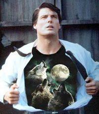 celebrities wearing wolf t shirts | Three Wolf Moon