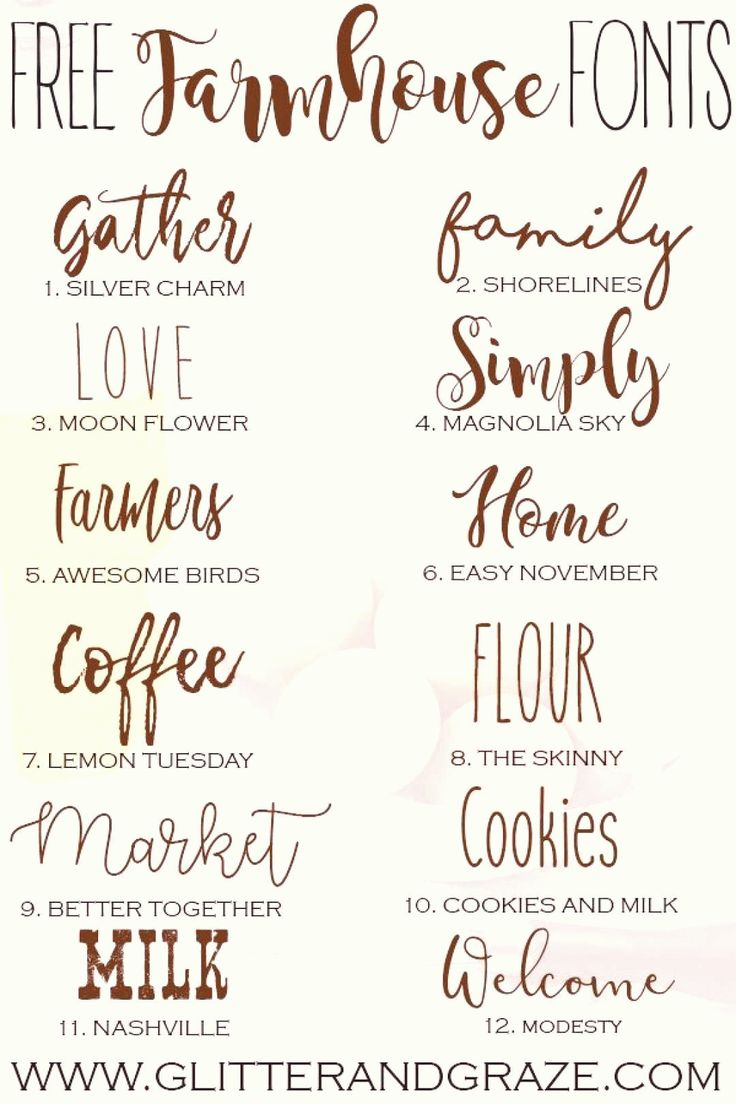Download A collection of free farmhouse fonts that you can download ...