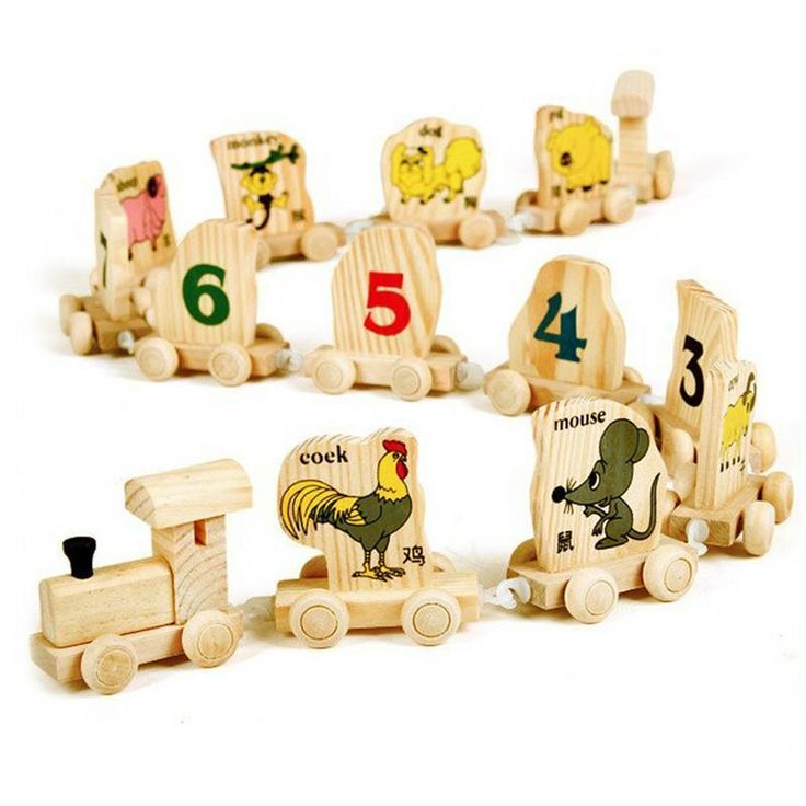 Multifunctional Digital Number Animals Wooden Train Educational Toys Train Toy #JOCESTYLE