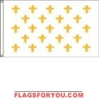 High Wind, US Made Fleur-de-Lis (23) Flag 5x8