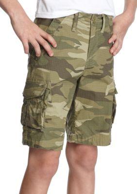 Red Camel Boys' Cargo Shorts Boys 8-20 - Camo Green - 14