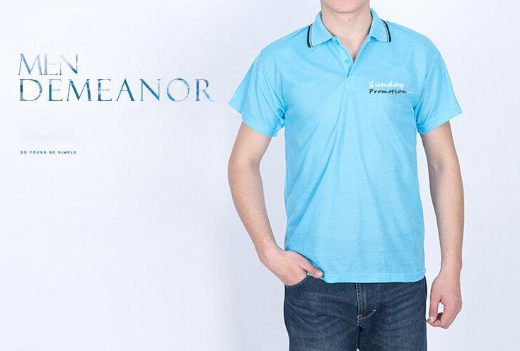 35% Cotton Black Trim Custom Polo Shirts with Logo - www.sundaypromotion.com make your custom printed giveaways.