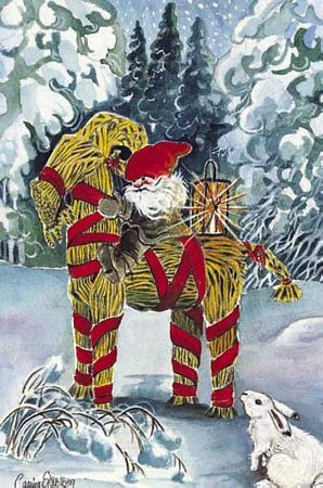 §§§ . Scandinavian Christmas traditions still carry a Yule Buck from ages past.  The Yule Buck (or Joulupukki in Finnish) is one of the oldest symbols of the Winter season, in part because Capricorn is the first moon of the new year.