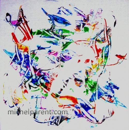 Doux oiseaux (Sweet Birds), 2013 acrylique sur toile,60 x 60 cm