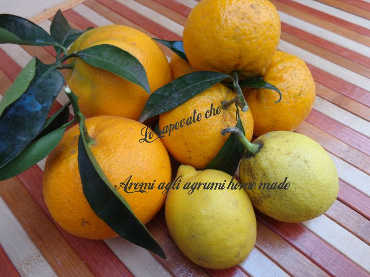 Aromi agli agrumi home made