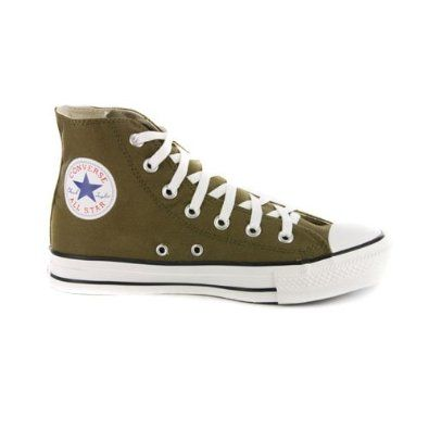 olive green converse high tops, except mine are completely green. Not white pparts anywhere