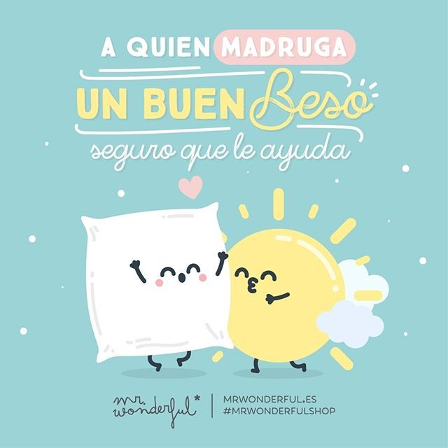 ¿A quién no le gusta empezar todos los días así? ¡Feliz Día Internacional del Beso! #mrwonderfulshop #felizjueves  Late to bed but early to rise, a good kiss helps to open your eyes. Who would not like to start every day that way? Happy International Kissing Day!